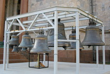 bells at the entrance to St Isaac's church
