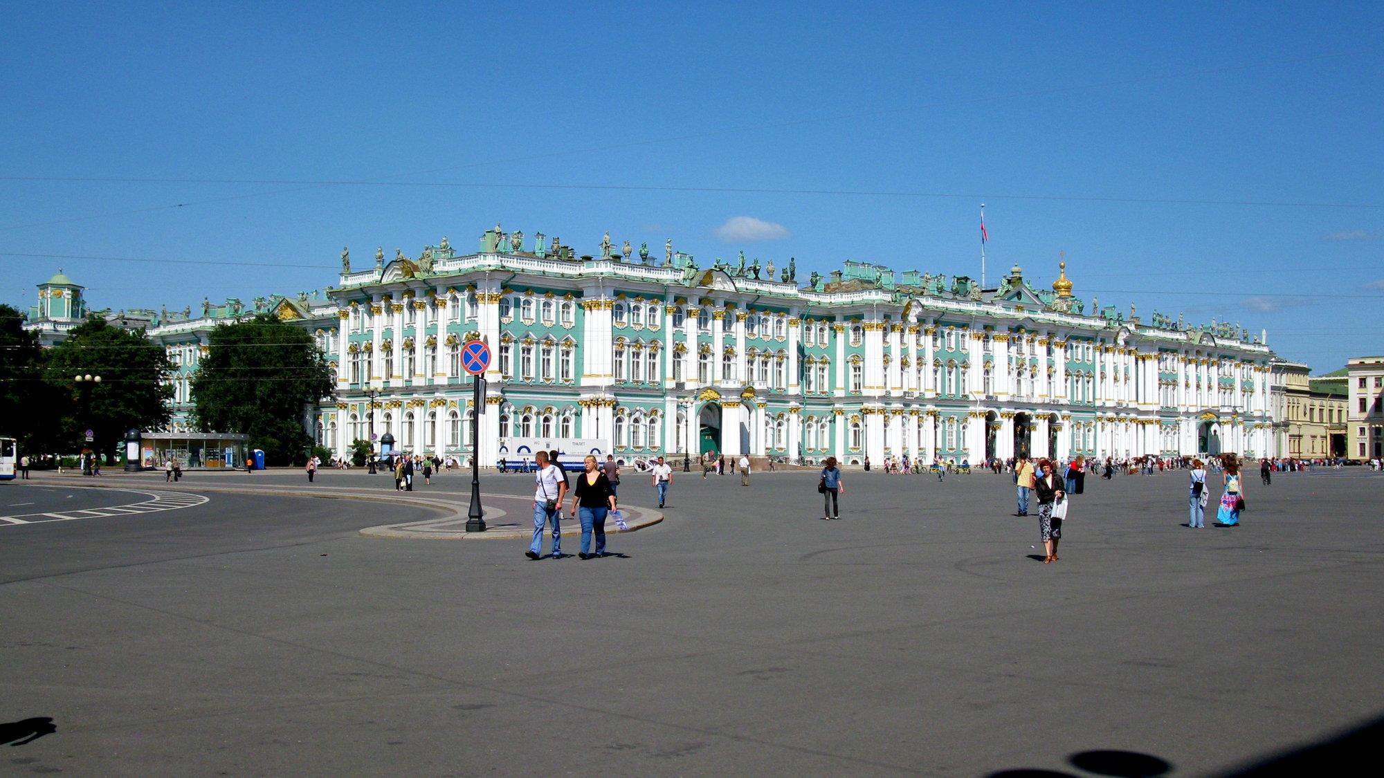 budova Zimného paláca, kde sídlila cárska rodina