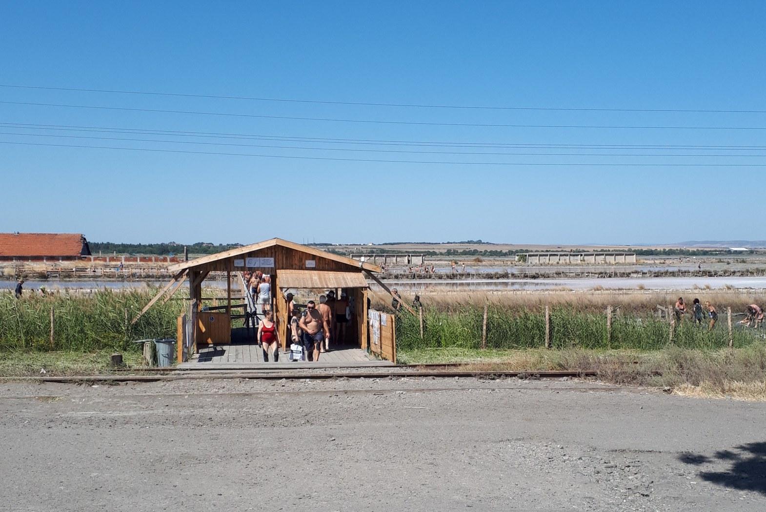 Atanasovské jezero – vstup do lázní