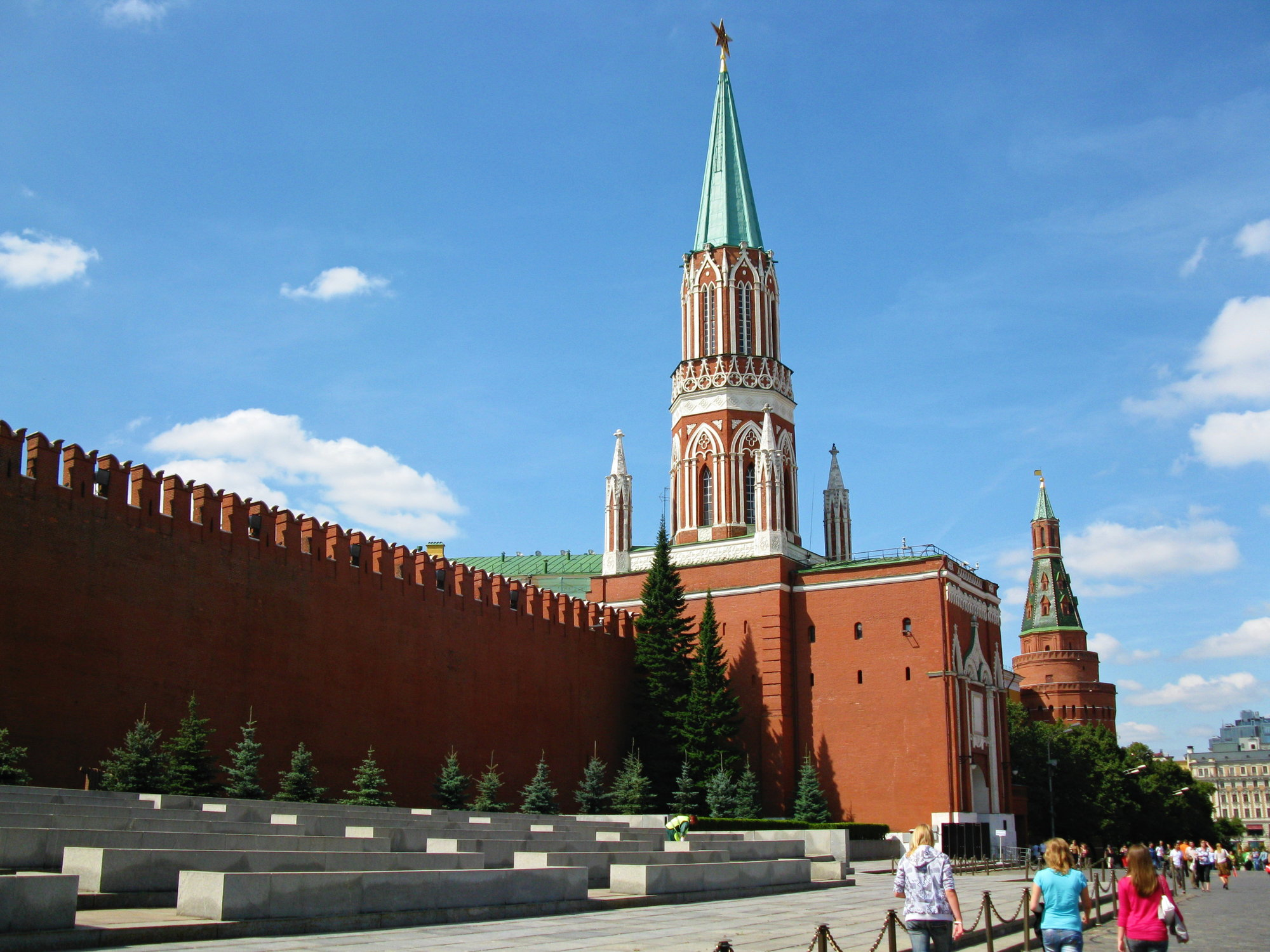 by the wall of Kremlin, there is a cemetery with Lenin's mistress Inessa Armand