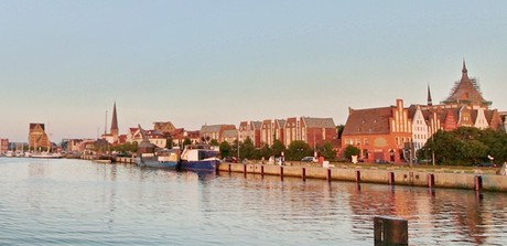 panorama of the port (Rostock)