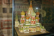 you may find the scale model of the church inside Saint Basils cathedral