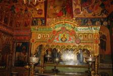 interiér chrámu Vasiľa Blaženého je bohato zdobený