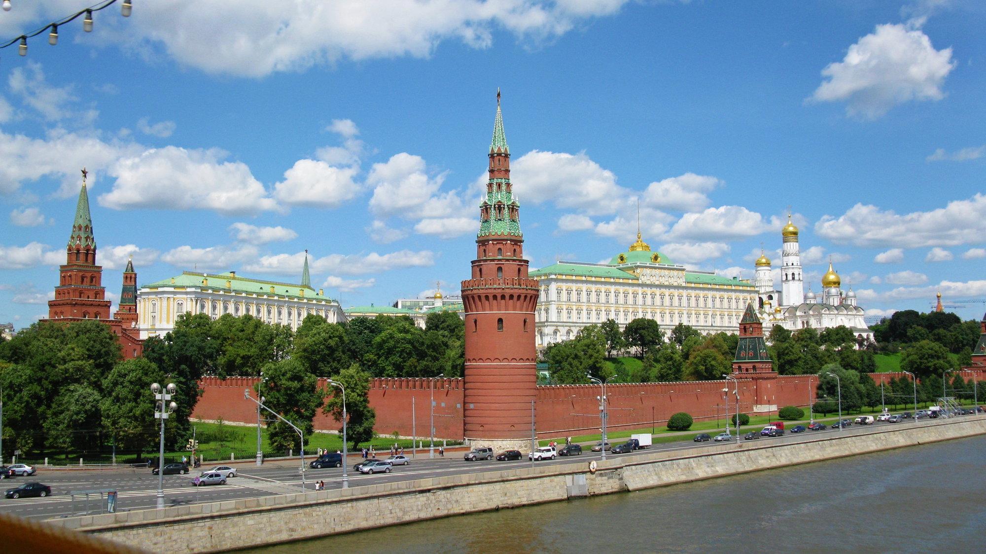 pohled na Kreml od řeky