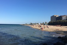 песчаный пляж Бари
