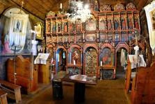 деревянный костел - Тополя (интерьер)