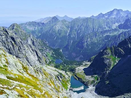 pohled ze sedla Váha do Těžké a Bielovodské doliny