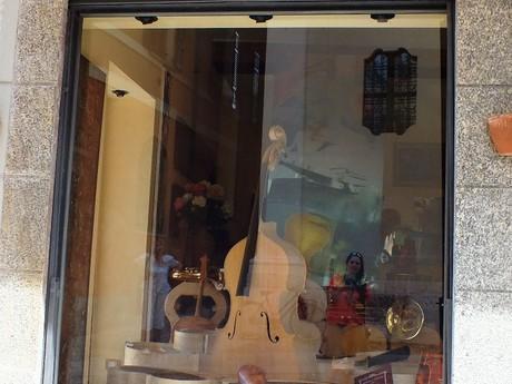 a violin store (Cremona)