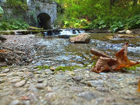 potok, po kterém sa splavovalo dřevo (Bacúch)