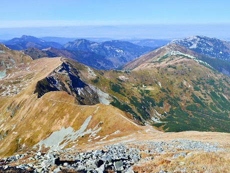 hlavný hrebeň Západných Tatier a poľská časť pohoria