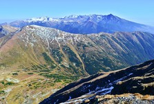 pohled z Bystré na vrch Velká Kamenistá a Kamenistou dolinu