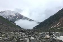 příroda u ledovce Chalati Glacier