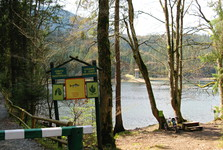 it is forbidden to camp at the lake as well as to make fire, and to take a swim in the lake