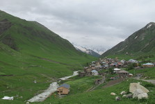 the vista to the valley of Ushguli
