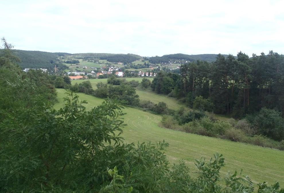 výhled na město z hradní vyhlídky