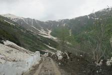 cesta přes Zagaro Pass