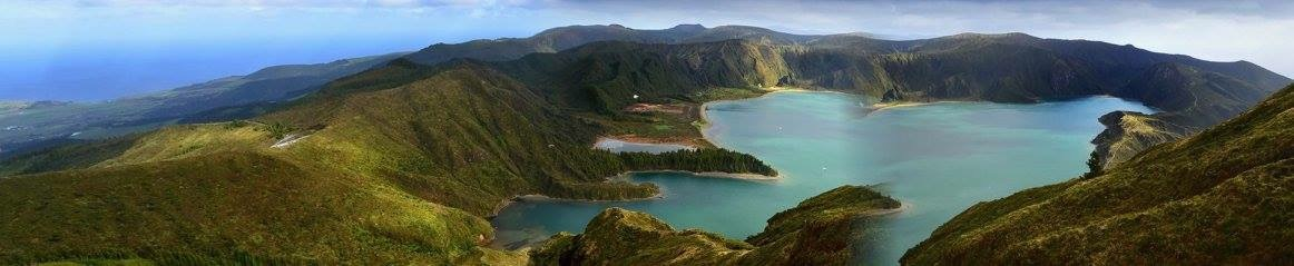 pohled na jezero Lagoa do Fogo, Sao Miguel