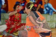 oslavy nepálského svátku Dashain