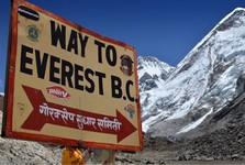 cesta k Everestu z vesnice Gorakshep