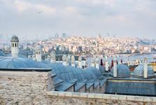 výhled od Modré mešity ke čtvrti Galata