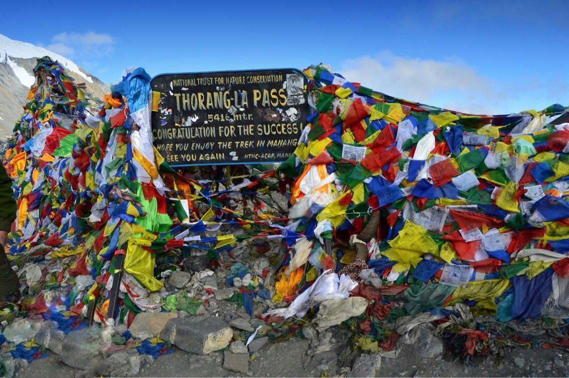 vrchol treku – sedlo Thorong La