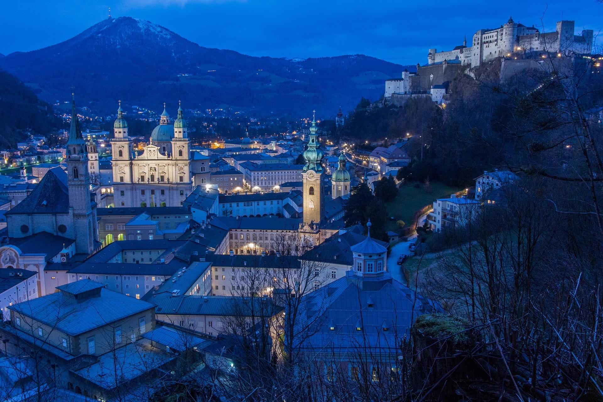 zimný Salzburg