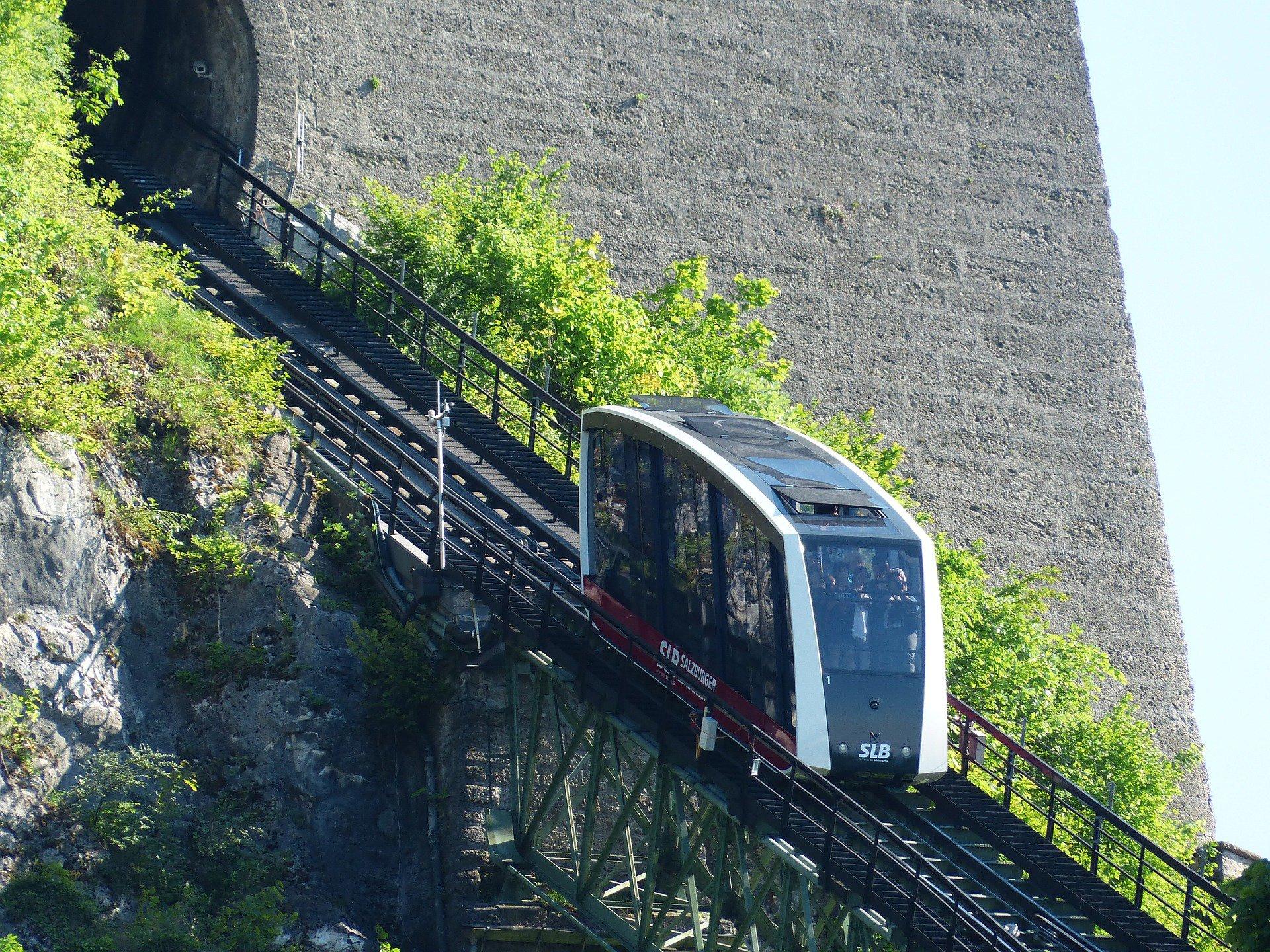 канатная дорога на  Хоэнзальцбург