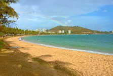 rainbow above the beach, Noumea