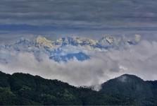 výhled na Himálaj
