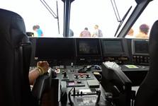 návštěva kapitánské kabiny