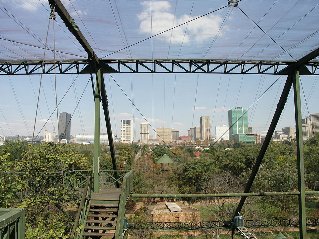 výhľad na mesto zo zoo