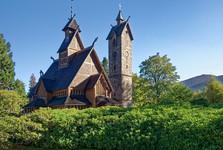 kostel Wang na polské straně Krkonoš
