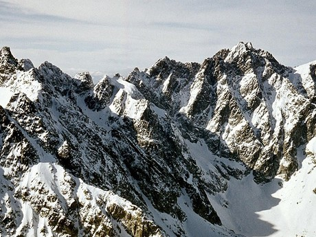 The ridges of the Tatras in winter