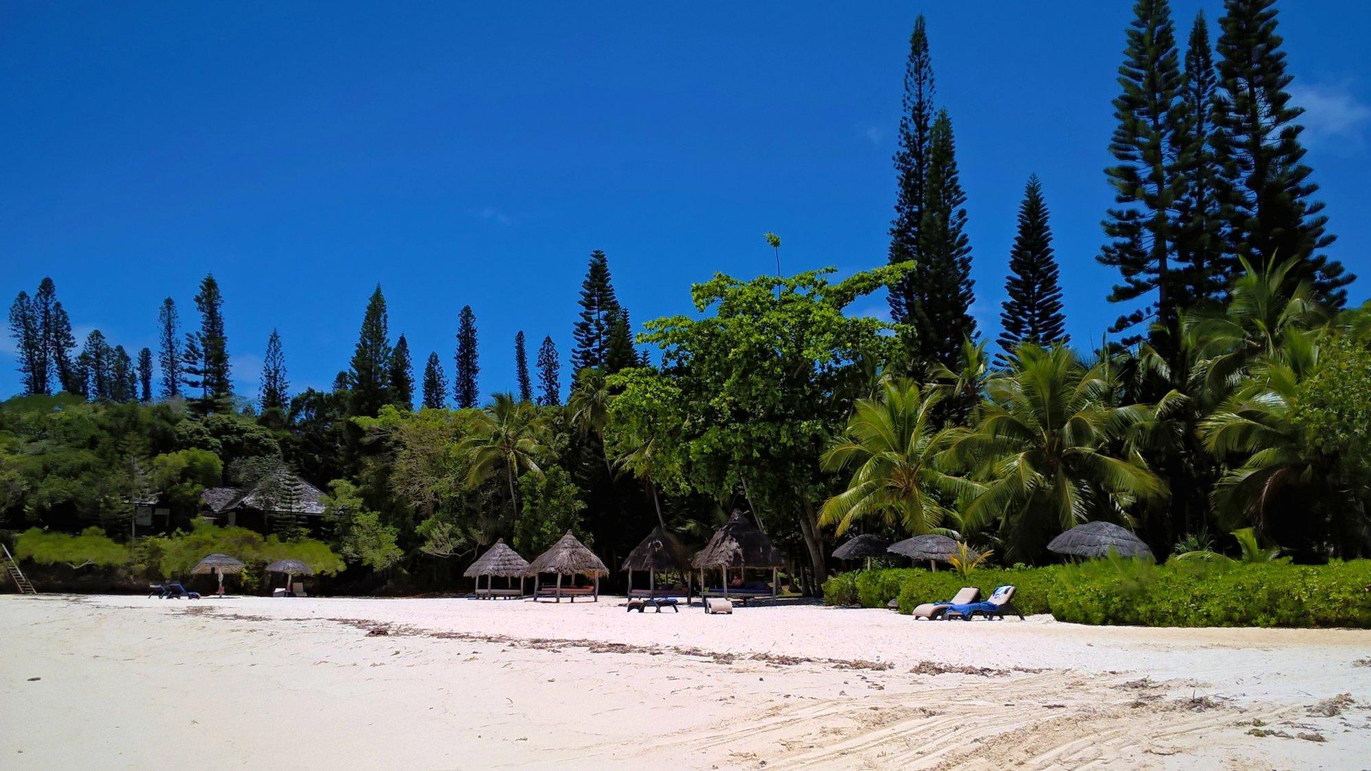 pláž Oro pri hoteli Meridien