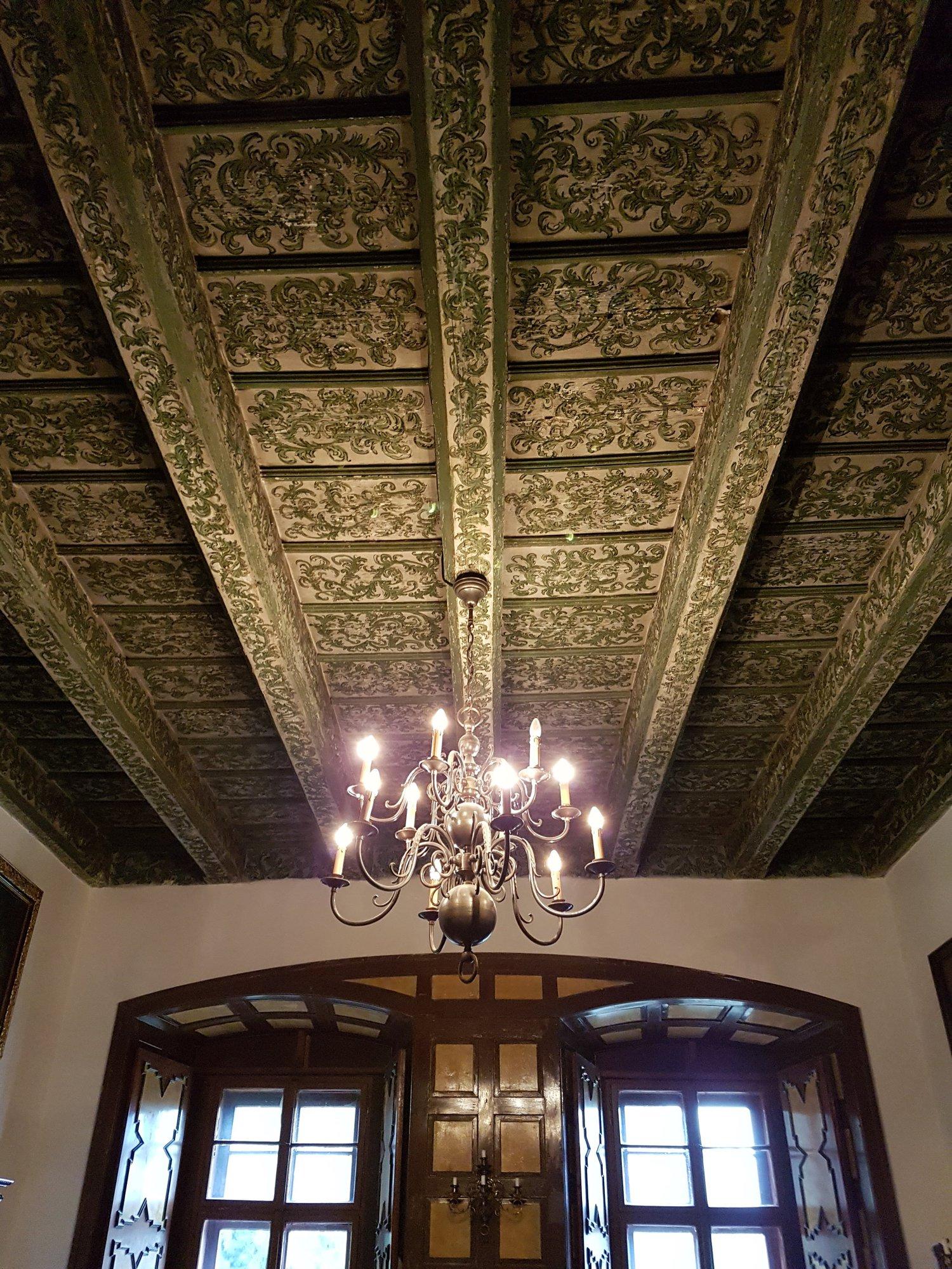 renesanční stropy na zámku Radim