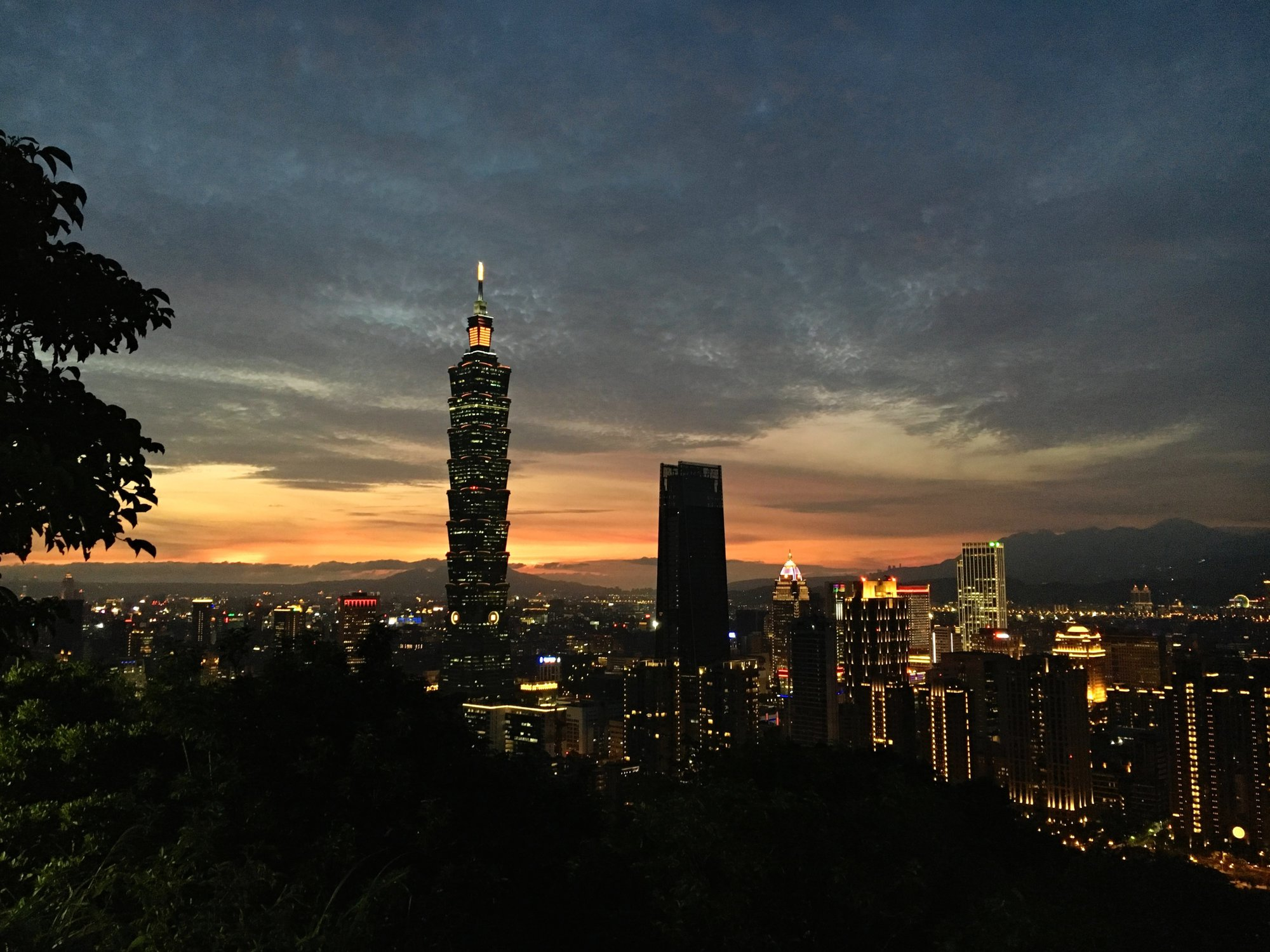 Taipei at night from Elephant Mountain