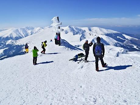 na vrcholu Ďumbieru