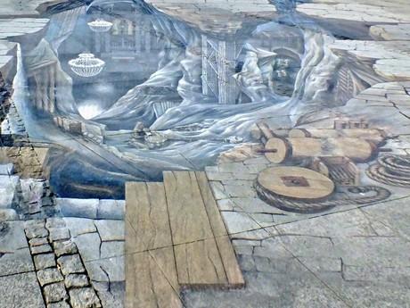 detail maľby na námestí Rynek Górny (Wieliczka)