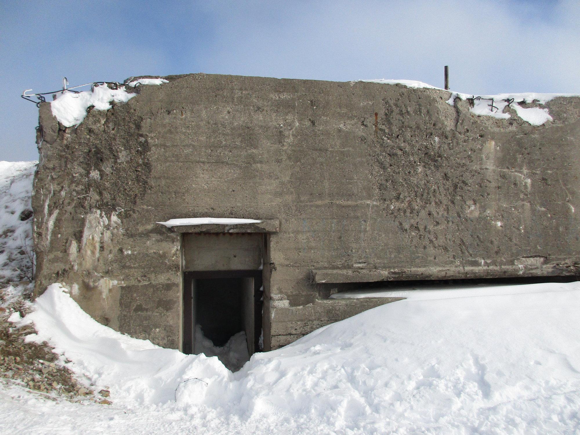 Military observation post near Houpak