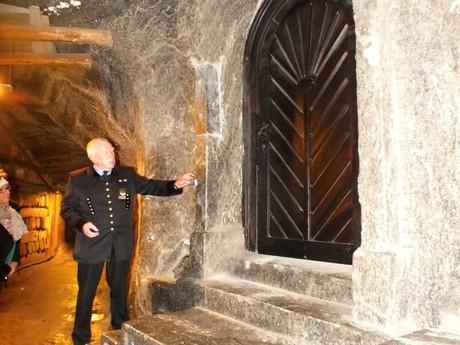 a tour guide in a salt mine (Wieliczka)