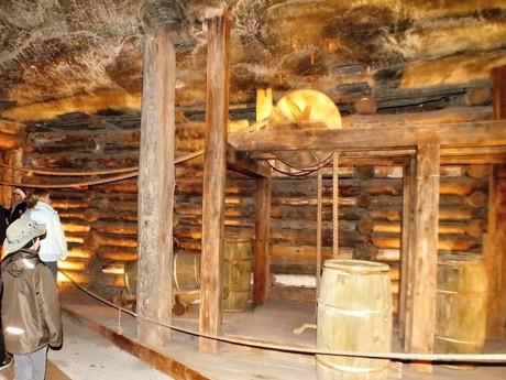 a tour in a salt mine (Wieliczka)