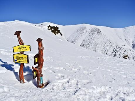 rozcestník turistických stezek – Holý vrch