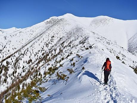 pohled z Holého vrchu na hřeben směřující k vrchu Baranec