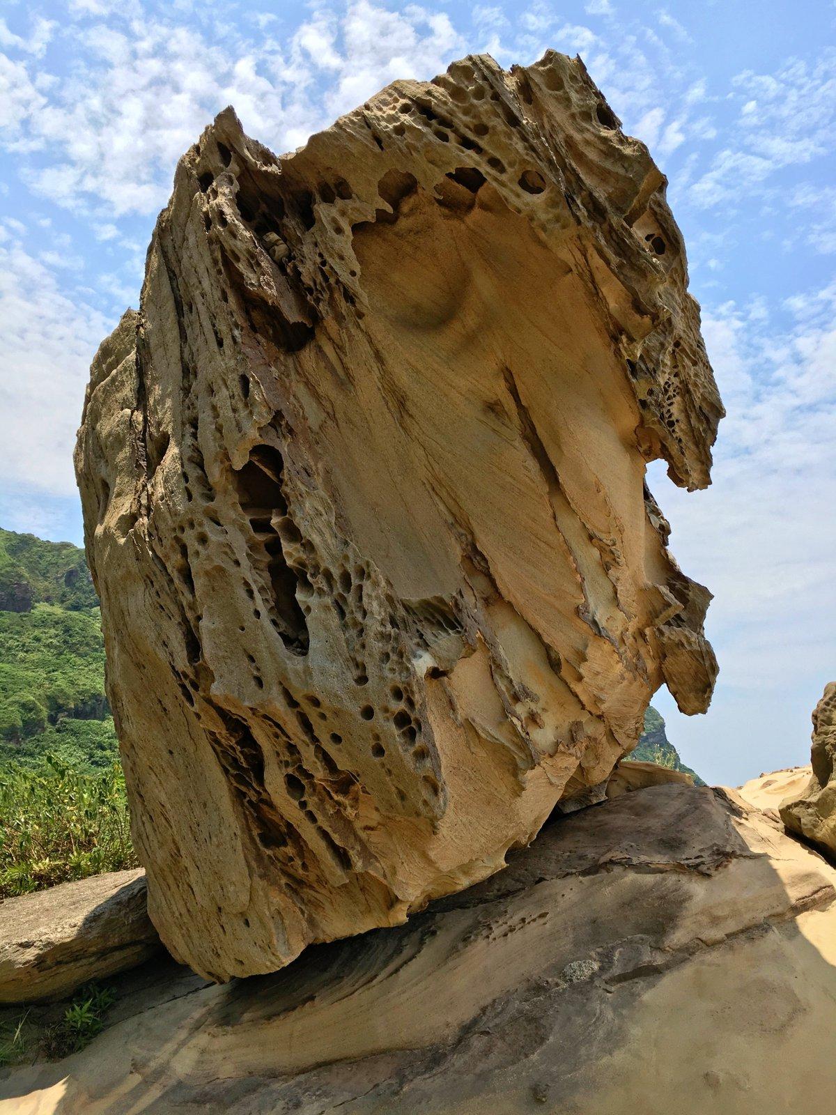útvary v Nanya Rock formation jsou výsledkem práce přírody
