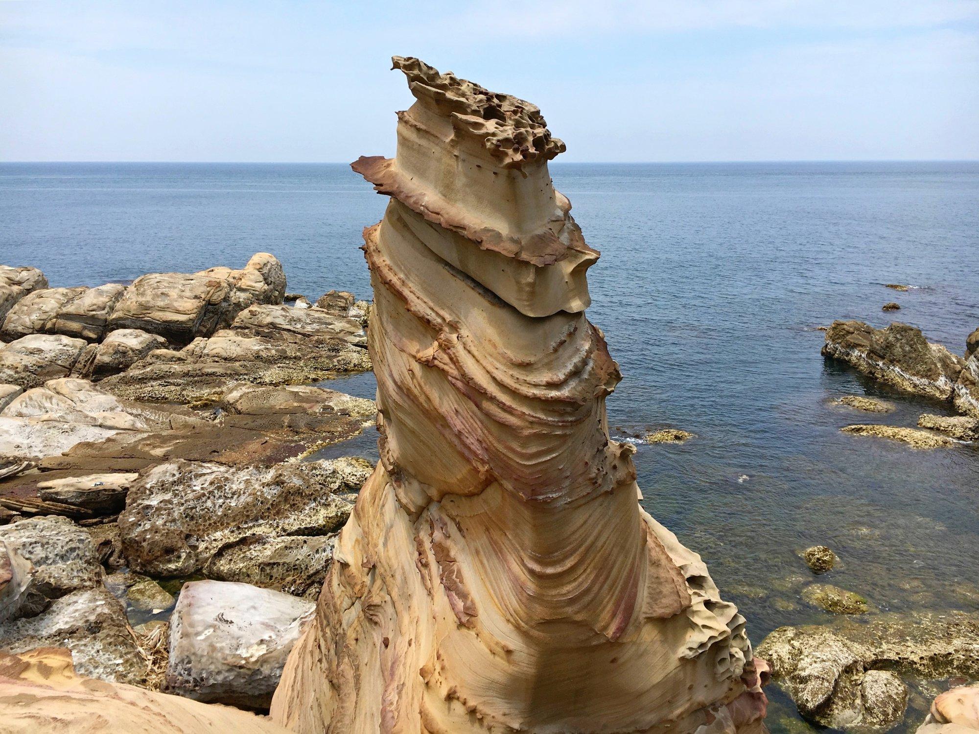 vlivem eroze vznikají i takové krásy, které jsou k vidění v Nanya Rock formation