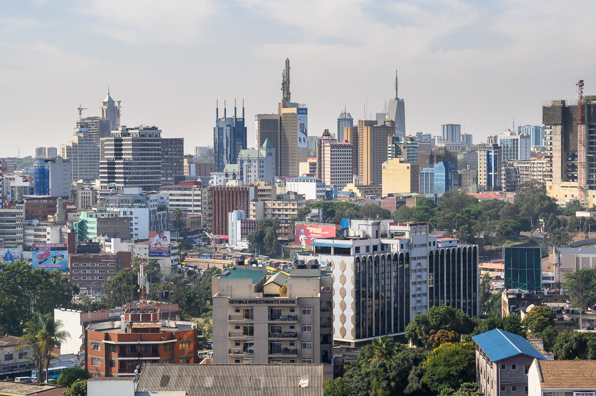 modern downtown, Nairobi