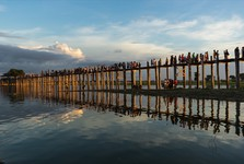 the longest and the oldest teak bridge in the world
