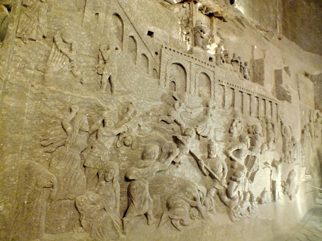 reliéf Vraždění neviňátek, kaplička sv. Kingy (Wieliczka)