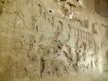 reliéf Vraždenie neviniatok, kaplnka sv. Kingy (Wieliczka)