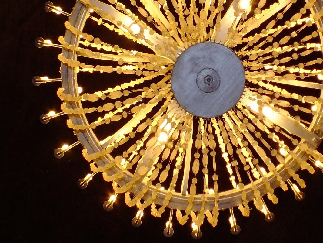 detail solného lustru (Wieliczka)